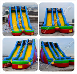 Doppeltes Land Inflatbale Slide, Inflatable Giant Jumbo Slide für Sale B4114
