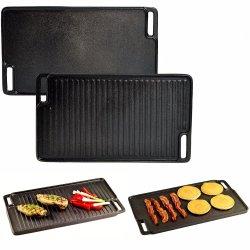 Pre-Seasoned Multi Reversible de hierro fundido Grill Griddle Pan parrillas para barbacoa