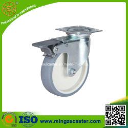 総ブレーキ熱可塑性のゴム製車輪の産業足車
