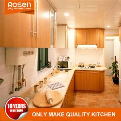 Custom design chaleureux de style européen de la mélamine des armoires de cuisine Mobilier