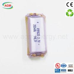 091633 fábrica One-Shoe 3.7V 350mAh Cigare e bateria de lítio
