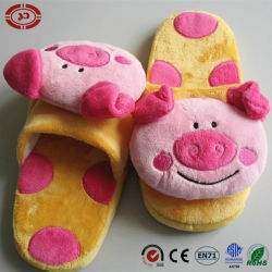 Tête d'animaux en peluche bébé cochon mignon soft chaussures pantoufles