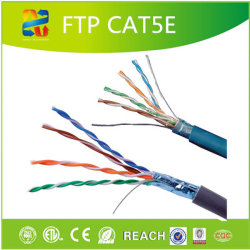 固体銅1000フィートの24AWGケーブル4つのペアのFTP Cat5eのネットワーキング