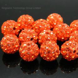 10mm의 고품질 Clay Crystal Disco Ball Shamballa Beads 베스트셀러