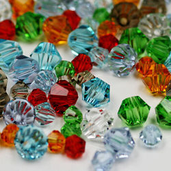 Charme de esferas de vidro solto cordões de espaçador de cordões de cristal bicone de 4mm para jóias de bricolage