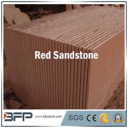 Rood die Zandsteen aan Grootte voor de Tegels van de Muur van de Tegels van de Vloer van Projecten wordt gesneden