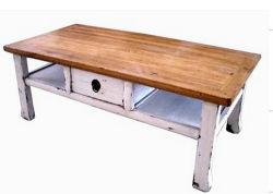Старинная мебель кофейный столик с выдвижной ящик деревне Лве177