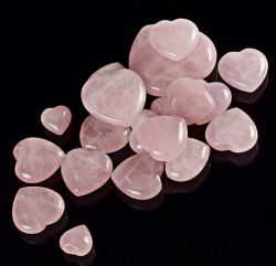 Cristal rose en forme de coeur bijoux en pierres naturelles accessoire Rose Quartz