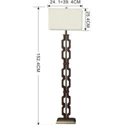 Un style moderne de la résine chiffon métalliques des lampes de plancher Éclairage de plancher pour décorer