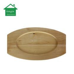 24cm Sizzler plaque en fonte avec base en bois