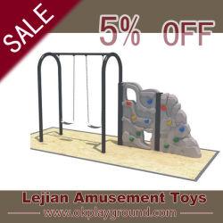 SGS Doule combinación de escalada en los asientos de columpio Playground Equipment (QQ1501-8)
