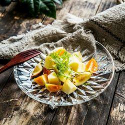 Vender comida caliente relieve grado clara Rould transparente cristal de exposición.