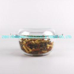 Ciotola di minestra di vetro rotonda della casseruola con il coperchio di vetro 2800ml