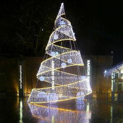 Prachtvolle wasserdichte Kegel-Baum-Lichter des Weihnachtsbildschirmanzeige-Motiv-LED riesige