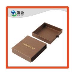 Выдвижной лоток для бумаги с текстурированной поверхностью коричневого цвета цвет упаковки для визитных карточек