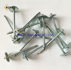 Bwg9x 2,5'' Paraguas Impermeabilización de cubiertas clavo galvanizado Eléctrico /Clout clavo o tornillo de techado