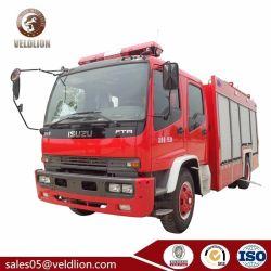 Marca japonesa Isuzu Fileira Dupla cabina 3 metro cúbico 5m3 6cbm 8 ton de espuma de água de combate a incêndio veículo, Motor de incêndio, o combate ao fogo, Veículo de emergência de incêndio Vechile