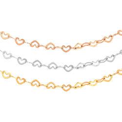 18inch ステンレススチール 18K 金めっきの宝石類の中心リンクはレイヤリングする 女性のための鎖の方法宝石類の恋人のギフト