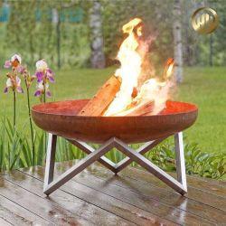 야외 코튼 스틸 현대적인 디자인 Rusty Garden Heater BBQ Fire 피트