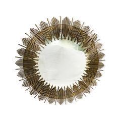 [متّ] [ستينلسّ ستيل] ذهبيّة مرآة وحدة طرفيّة للتحكّم مرآة زخرفيّة