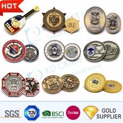 Производитель Пользовательский логотип 3D-цинковых сплавов золота сувениров металлические монеты Silver военного антиквариата задача ВМС алмазного края монеты для рекламных подарков