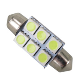 Белый светодиод пальчикового типа потолочного фонаря 5050 SMD 6 LED C5w Car Auto внутренние ручки дверей 12V лампы направленного света лампы подсветки карты 31/36/39/42мм