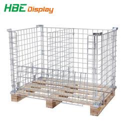 Highbright escala Heavy Duty de malla de alambre galvanizado de seguridad de la jaula de palet