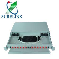 Surelink RS12 Kern-verschiebbarer Zahnstangen-Montierungs-Faser-Optikverteilungs-Rahmen des Anschlusskasten-12