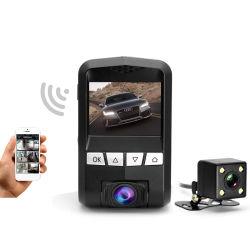 極度の夜間視界機能ダッシュカムが付いている二重ダッシュのWiFiのカメラのレコーダー
