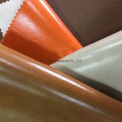En PVC de cire d'huile de cuir artificiel de matières premières de patin de soutien en daim pour un canapé-meubles