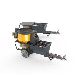 시멘트 박격포 스프레이어 Putzmeister 펌프 자동적인 벽 연출 기계 Turbosol Monoface 박격포 스프레이어 살포 기계 Concrete 펌프