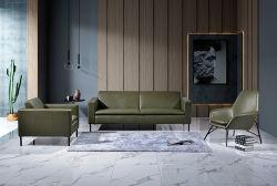 Горячая продажа Fashion Office Solution роскошный кожаный диван устанавливает с откидной спинкой