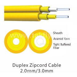 Для использования внутри помещений 2.0mm 3,0 мм GJFJV Sm мм Duplex Zipcord Оптоволоконный кабель