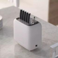 Smart eléctrico cocina desinfección UV Cuchillo tenedor cuchara titular del bloque de almacenamiento