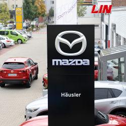 Personalizada de melhor qualidade e preço melhor Metal Cromado Mazda publicidade exterior Signage Carro pilone do logotipo