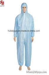 O uso ocasional de trabalho sobre segurança EPI Azul de PP+PE revestidos de vestuário de protecção descartável