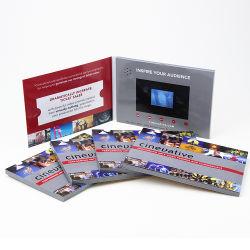 Bateria de lítio Convite Cartão de Vídeo LCD Reserve com USB