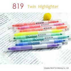 Farben-Leuchtmarker des Kursteilnehmer-Briefpapier-819 doppelter helle der Spitze-12