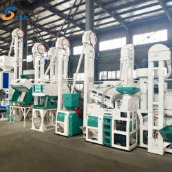 20 Tonnen Kombinierte Reismühle Maschine Reis Verarbeitungsmaschine Reis Pulvermühle