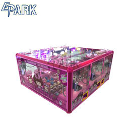 Muñeca Princesa rosa Don Monedas Garra de diversiones de la máquina de la grúa