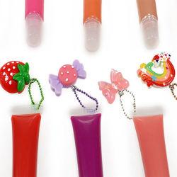 Commerce de gros fabricants OEM sous étiquette privée Vegan Glitter aromatisé imperméable et hydratant clair brillant à lèvres d'huile pour Lipgloss tube