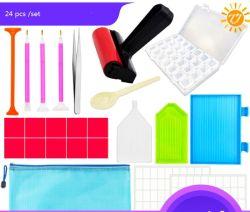 24 PCS Pen Cross Pintura Diamante bricolage Ferramenta de Ponto 5D Atualizar Diamond Kits de pintura para artesanato DTY