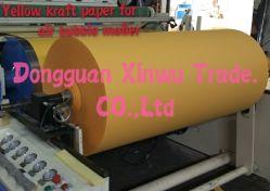 80GSM PE bedekte het Gele Document van Kraftpapier voor Luchtbel Mailer met een laag