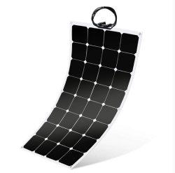 110W 18V 12Vのキャンプするか、またはBoat/RV/Travel/Home車の太陽電池パネルキットのための半適用範囲が広い太陽電池パネルのSunpowerの太陽電池