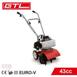 250mm Benzin-Minipflüger 43cc für die Landwirtschaft, Benzin-Energien-Pflüger der landwirtschaftlichen Maschinerie-1.6HP der Landarbeiter-Landwirt-Maschinerie für das Pflügen (GT25)