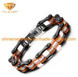 Bijoux en acier Titane Bracelet Bracelet tendance Classic Men's Sticky CZ Pierres BRACELET DE VELO BICYCLETTE BL2922