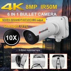 ジャンクション・ボックスAhd/Tvi/Cvi/CVBS/SDI /Ex-SDIの出力が付いているスターライト4Kの弾丸のカメラ