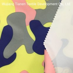 カムフラージュのジャケットのためのPUの乳白色のコーティングが付いている印刷によってリサイクルされる繭紬ファブリック