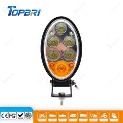 トラクターのための楕円形のこはく色の白LEDの農業作業働くライト