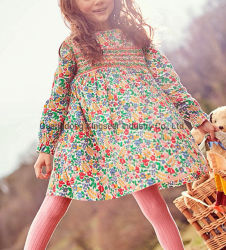Alta qualidade de distribuidor novo tecido de renda de moda e forro de poliéster de algodão as crianças sem mangas roupas de Bebé Kids Parte vestidos menina das Flores